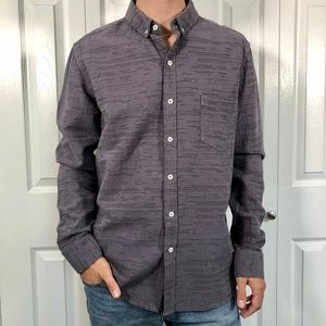 Oxford Lads Textured Grey Long Sleeve Shirt M